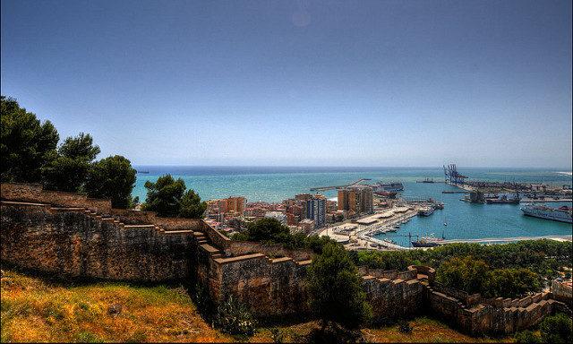 Вид с крепости Гибральфаро