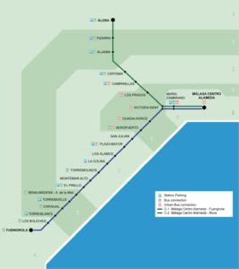 Схема электричек в Малаге