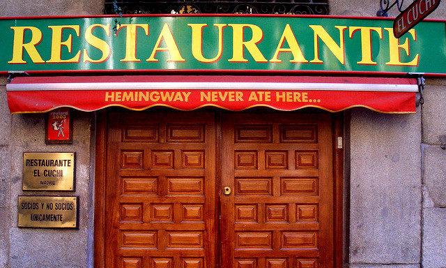 Рестораны в Мадриде