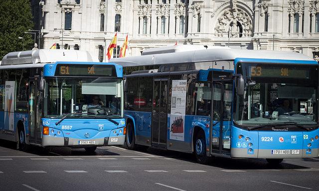 Автобусы в Мадриде