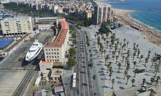 Дорога вдоль каталонского побережья