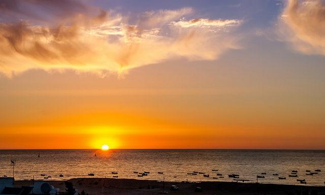 закат на пляжах Санлукара