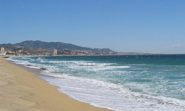 Пляж побережья Коста-дель-Маресме