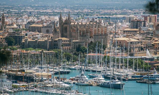 Пальма-де-Майорка, панорама с замка Бельвер
