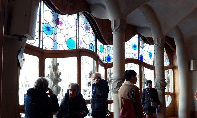 Витражные окна в доме Бальо