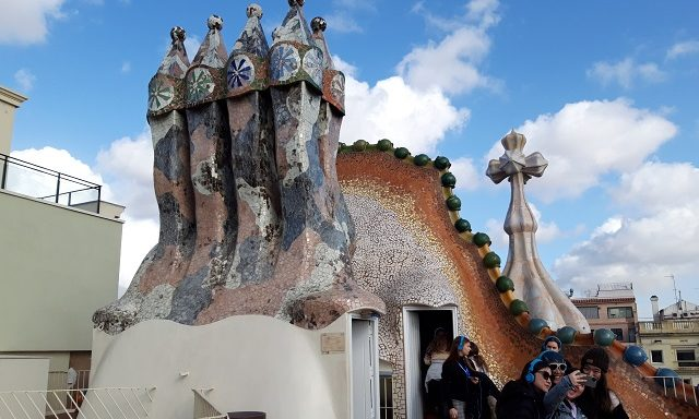 На крыше Каса Бальо