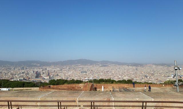 Вид на Барселону с крепости Монжуик