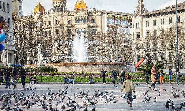 Los Paseos - На площади Каталонии