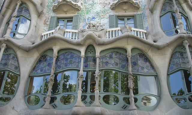 Парадные окна дома Бальо