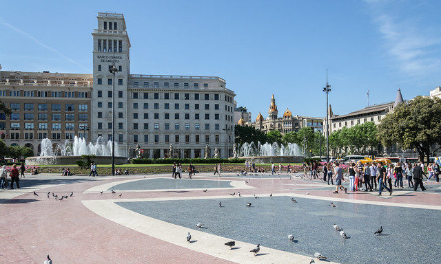 dconvertini - Площадь Каталонии летом