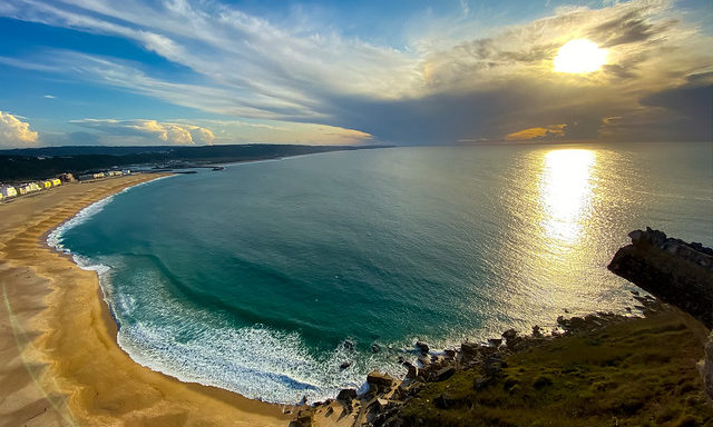 Прибрежная панорама Назаре